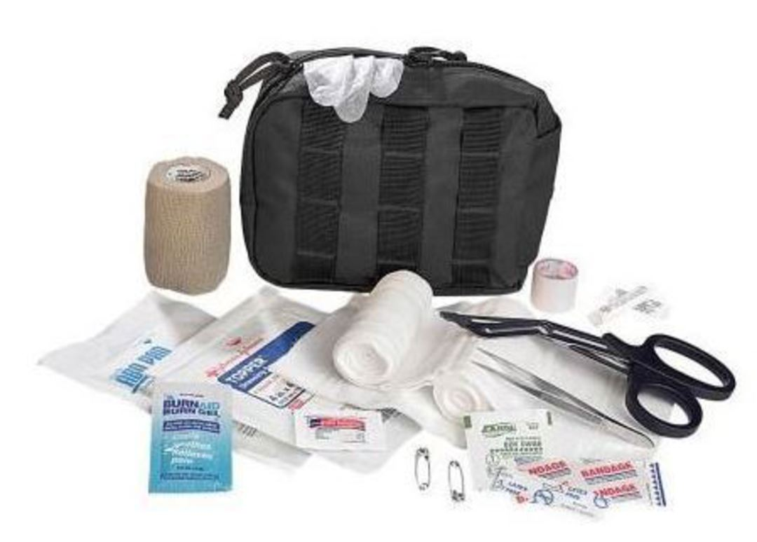 Elite 1st Aid Tactical Trauma Kit #1 - BLACK image 2