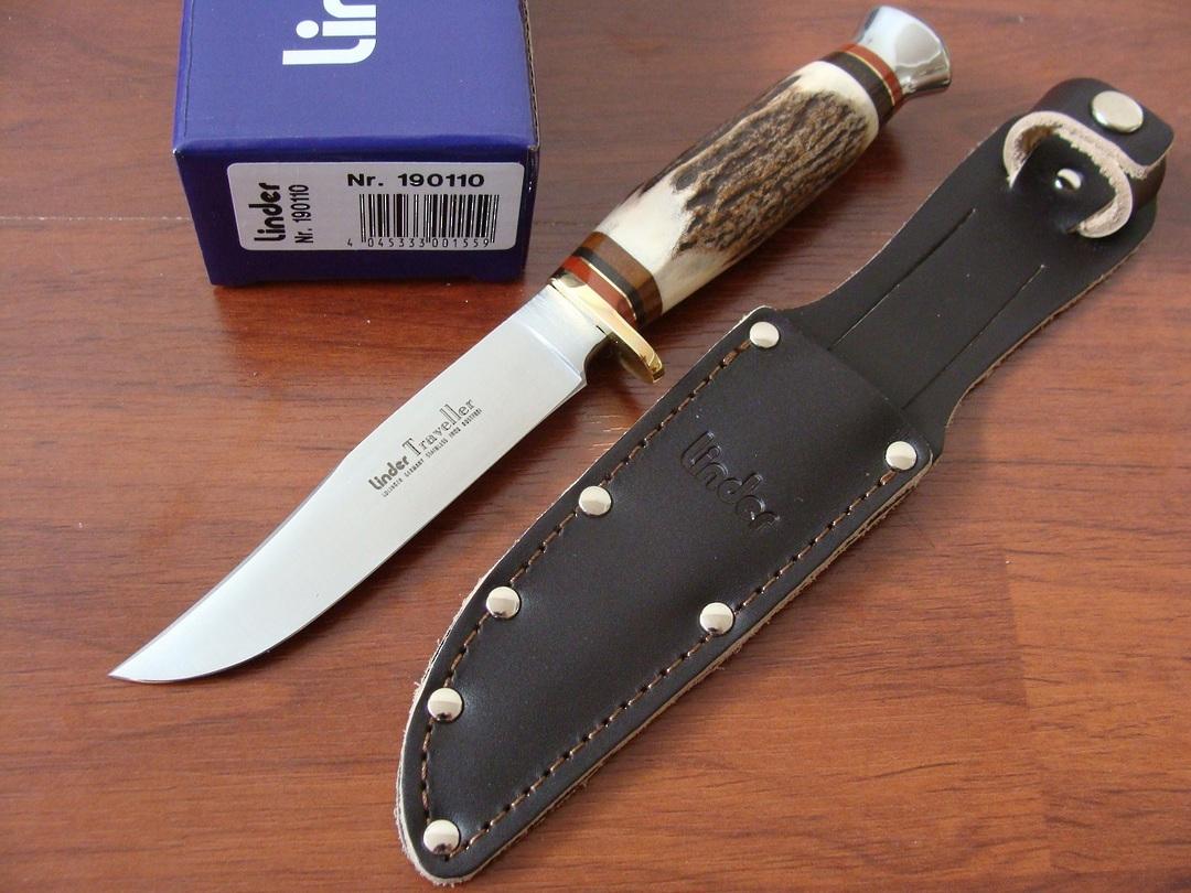 """Linder Traveller Stag Knife 8"""" German made image 0"""