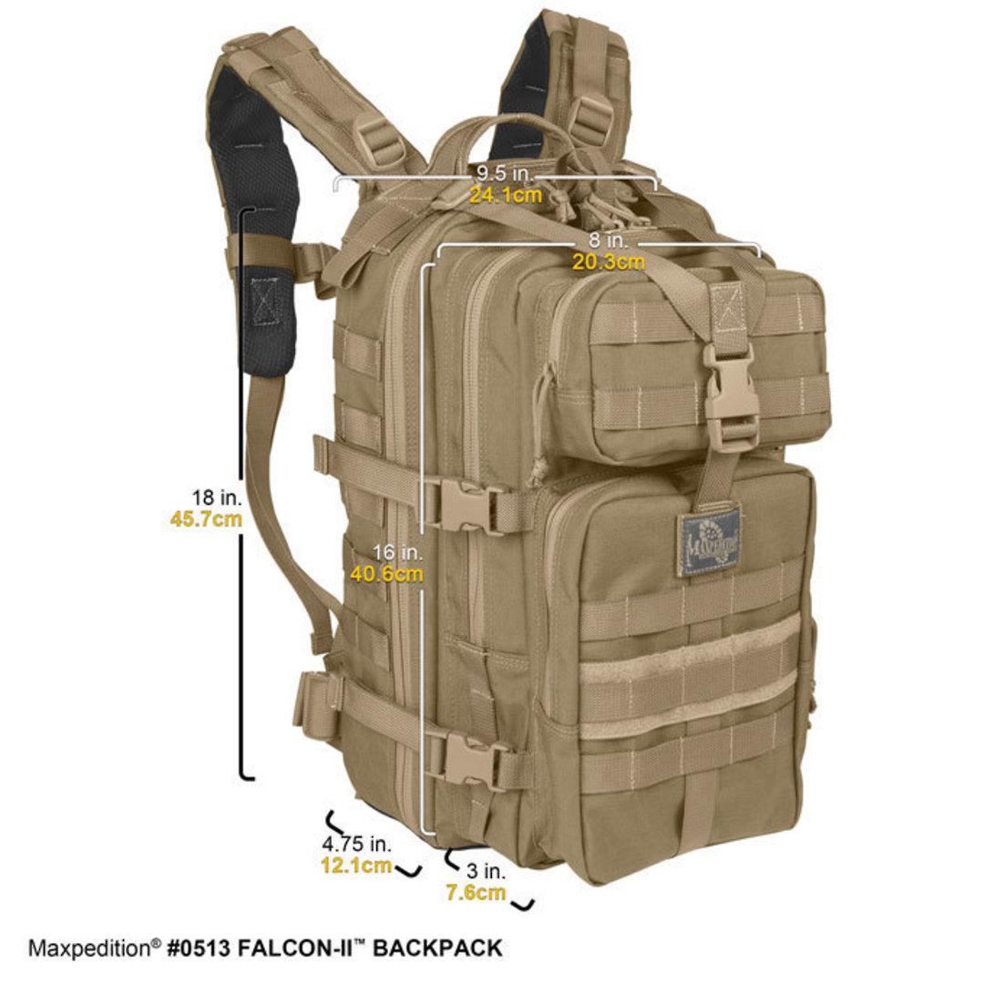 Maxpedition Falcon II Hydration Backpack ~ Khaki image 2