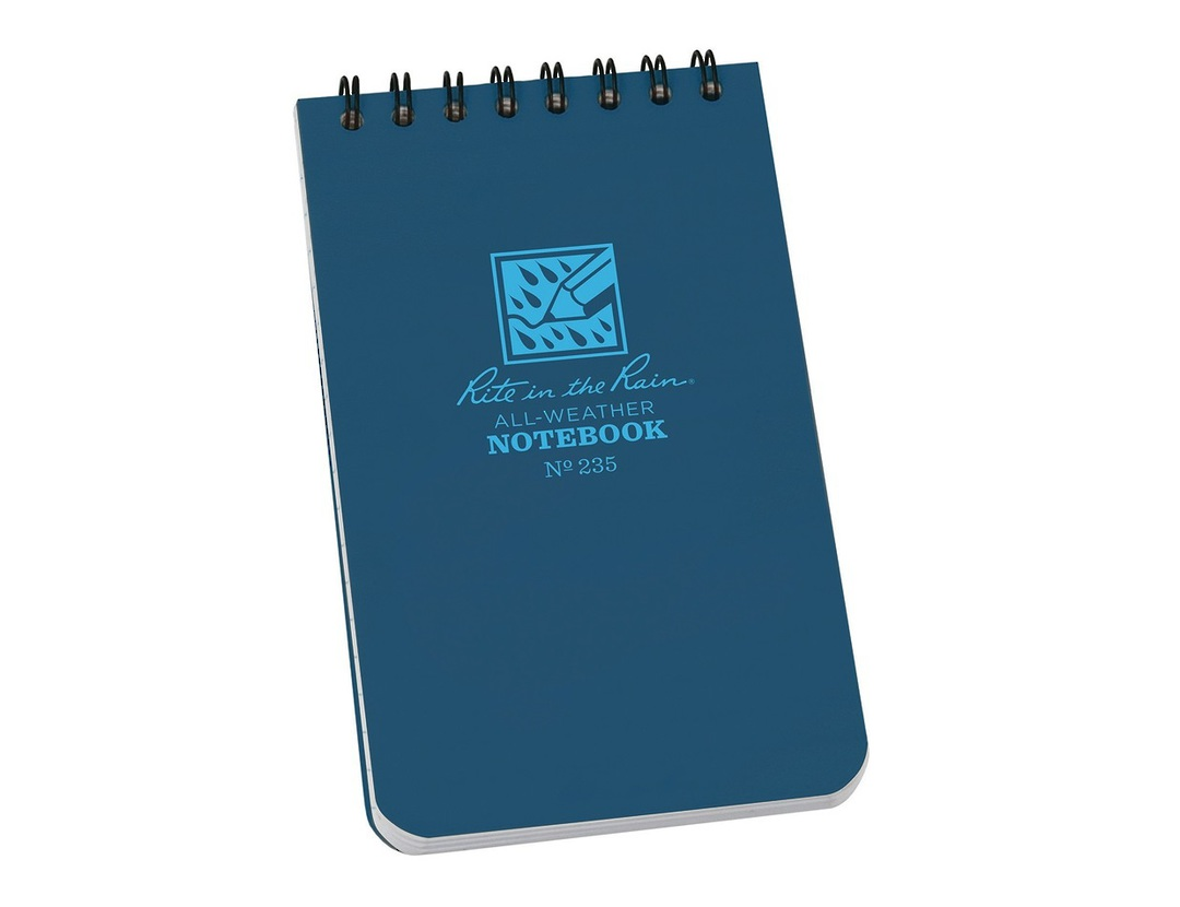 """Rite in the Rain Universal Polydura Tactical Pocket Notebook, 3"""" x 5"""", Blue image 0"""