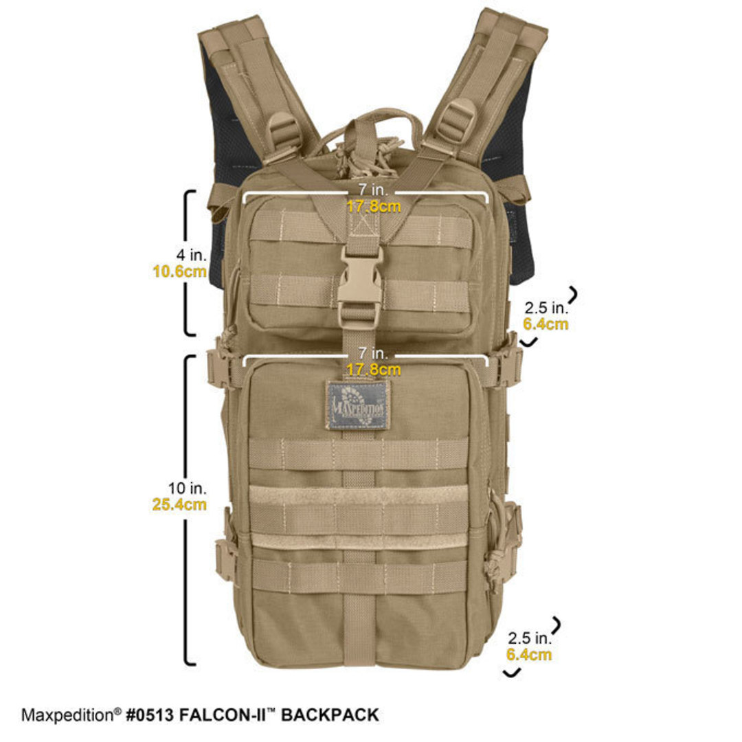 Maxpedition Falcon II Hydration Backpack ~ Black image 1