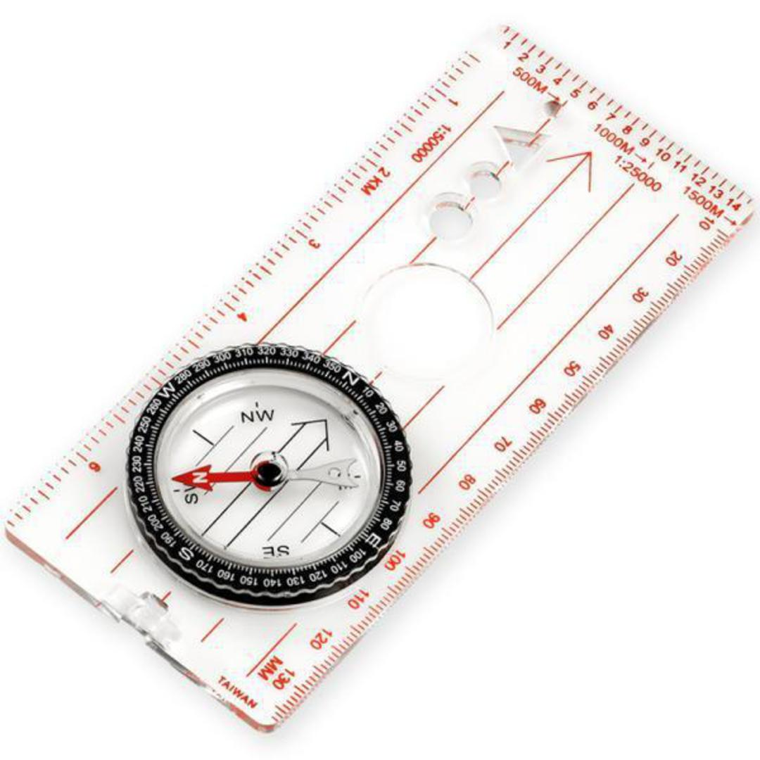Ndur Map Clear Acrylic Base Compass with Ruler - Large - 51530 no packaging image 0