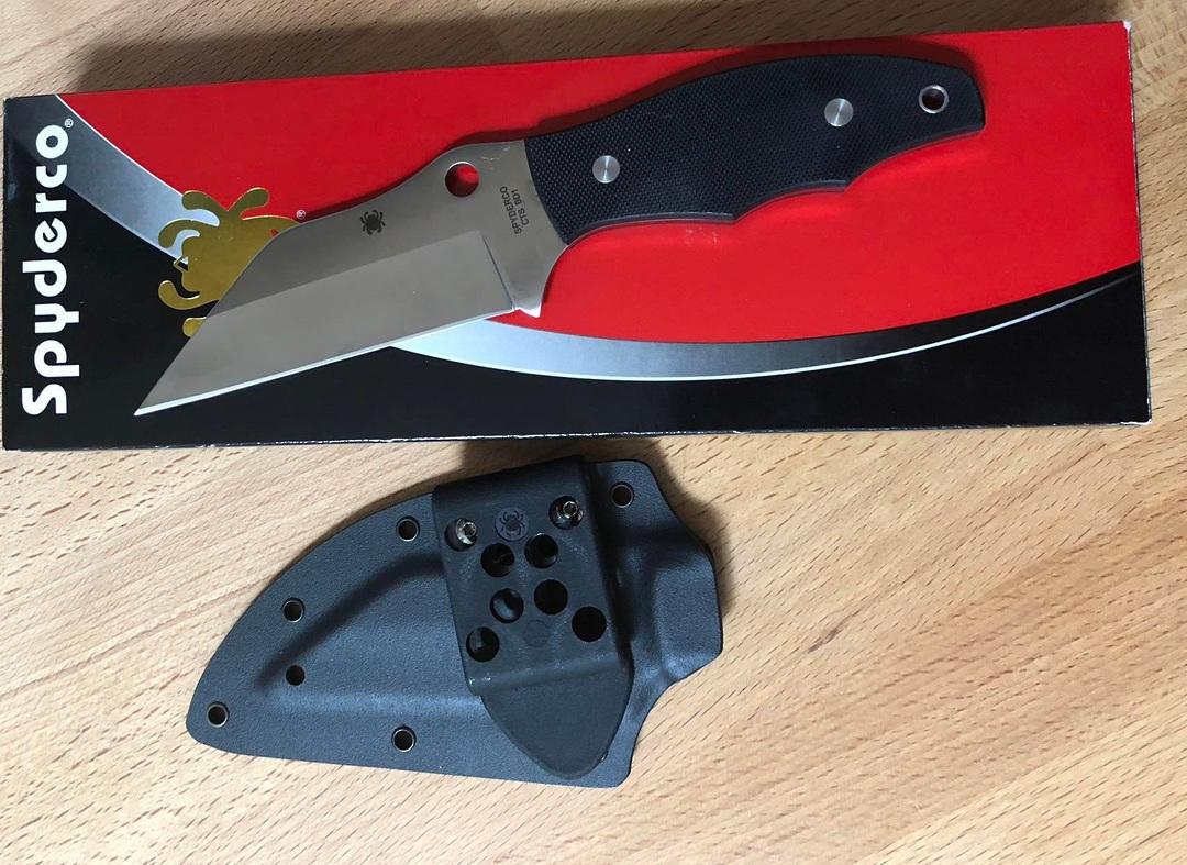 Spyderco Ronin 2 Fixed Blade Knife G-10 Handles image 0