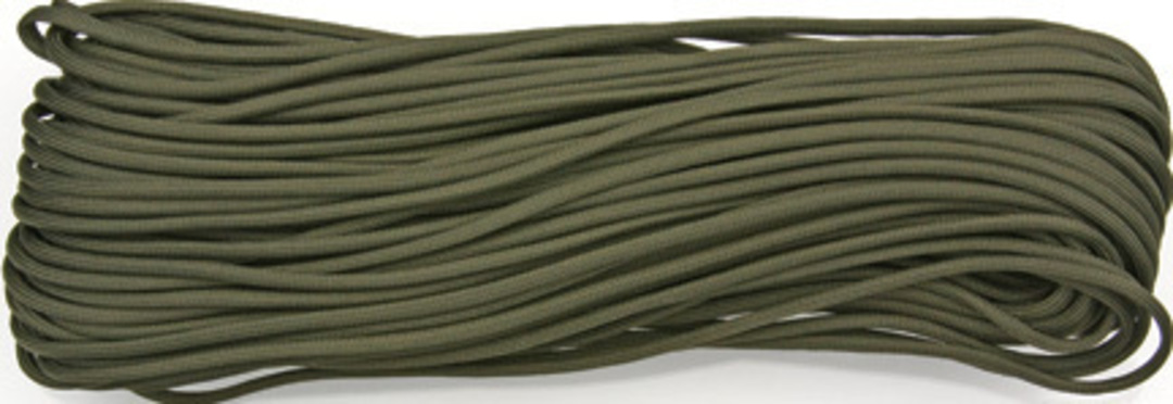 100ft 550 Parachute Cord/Paracord OD Green image 0