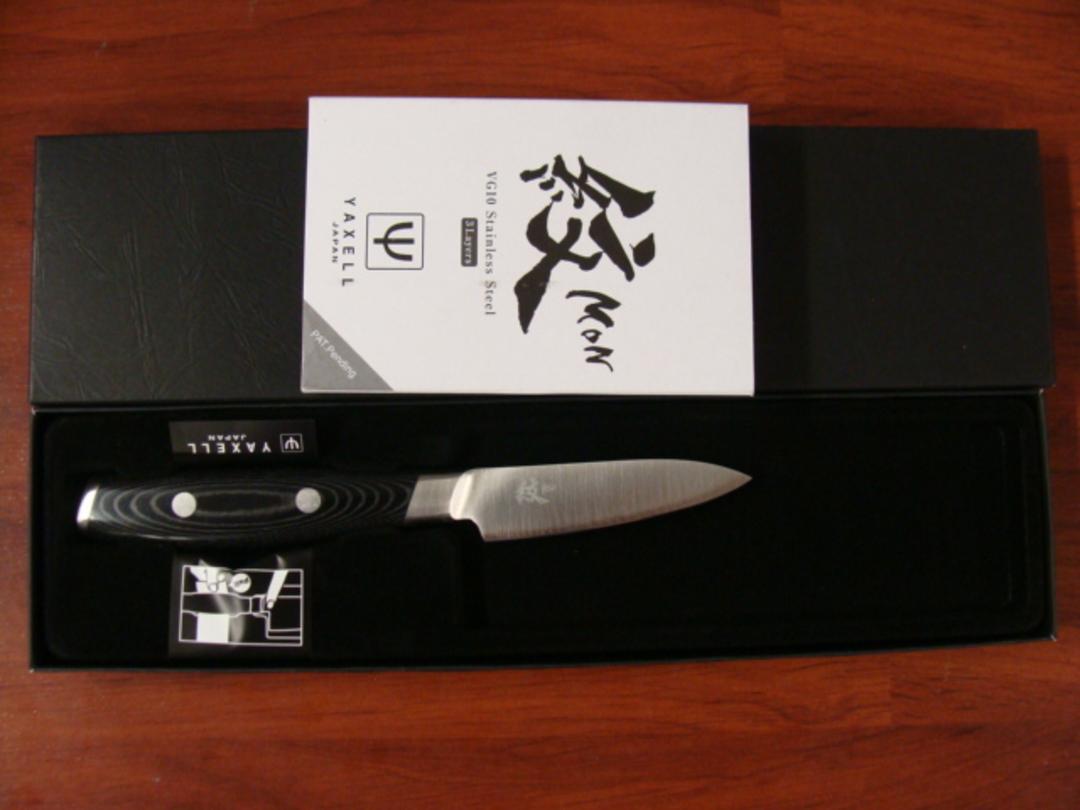 Mon Japanese Damascus VG-10 Paring Knife 80mm - 3 Layers image 2