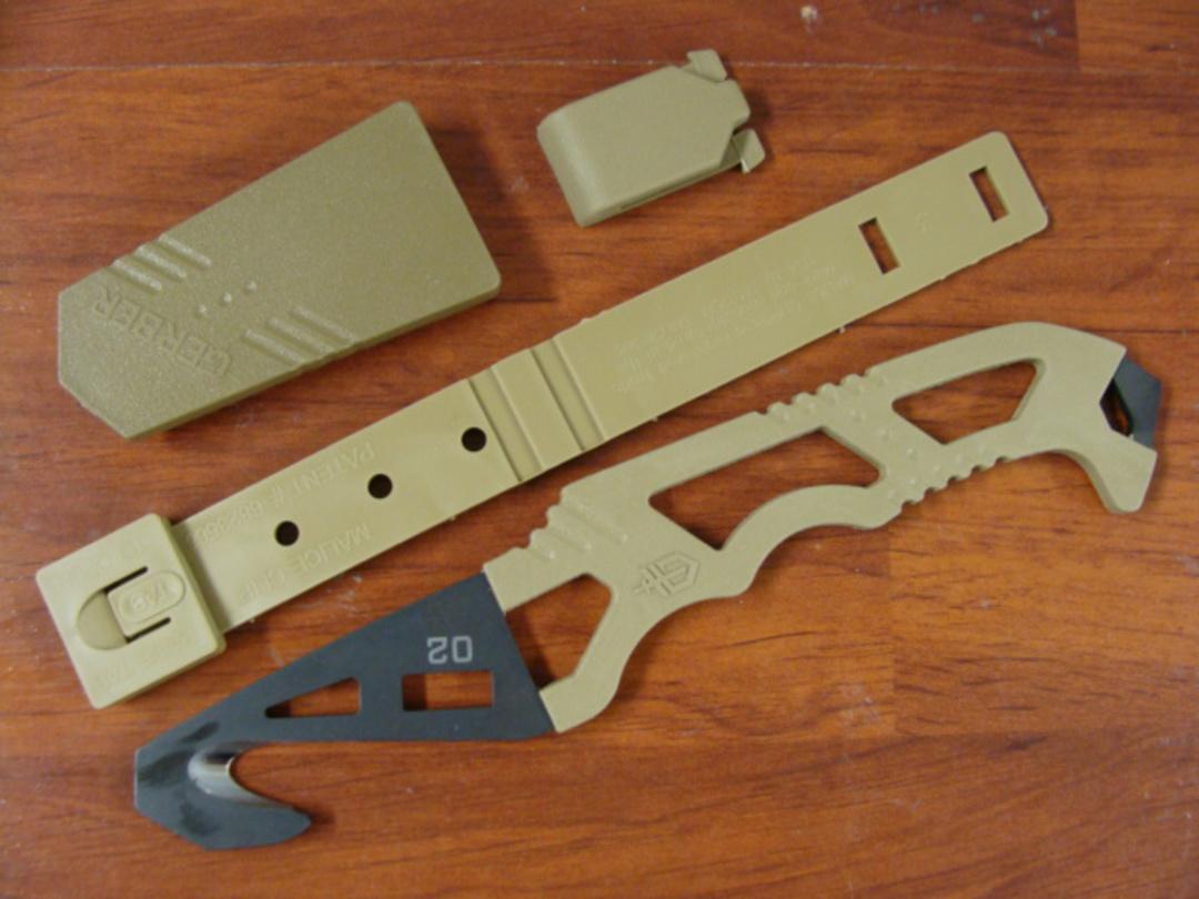 Gerber Crisis Hook Rescue Knife, Strap Cutter, Window Breaker image 0