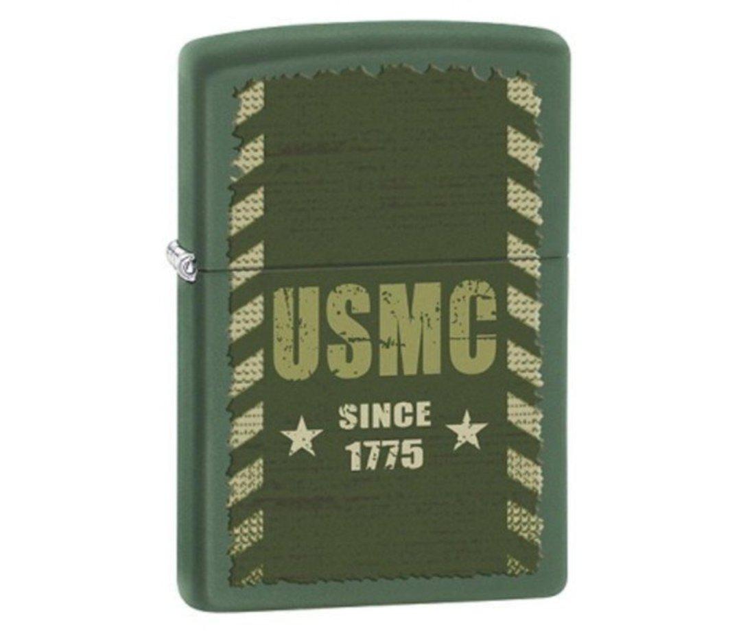 Zippo Marines Green Lighter image 0