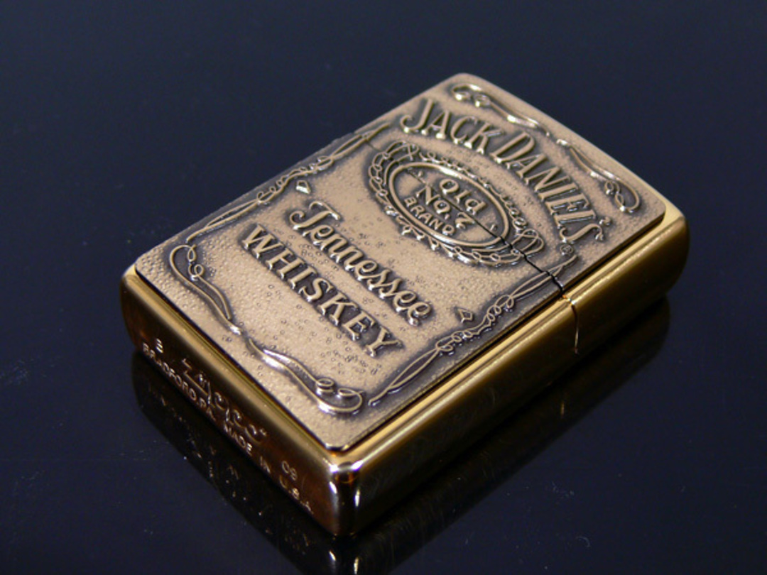 Zippo Jack Daniels Emblem Brass Lighter image 0