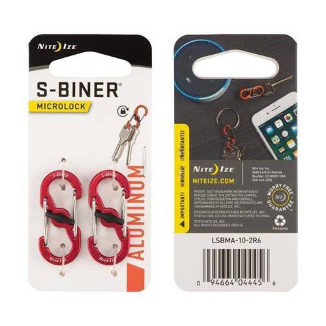 Nite Ize S-Biner Microlock Set of 2 Red image 0