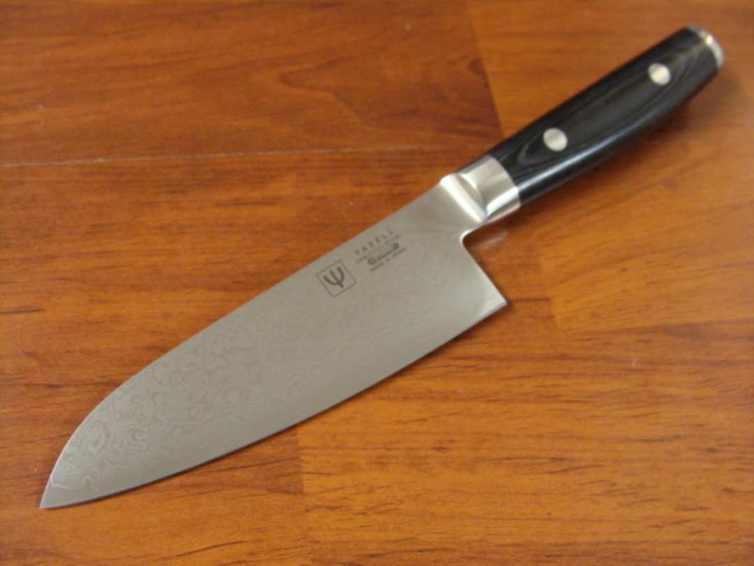 RAN Japanese DAMASCUS SMALL SANTOKU KNIFE 125mm image 0