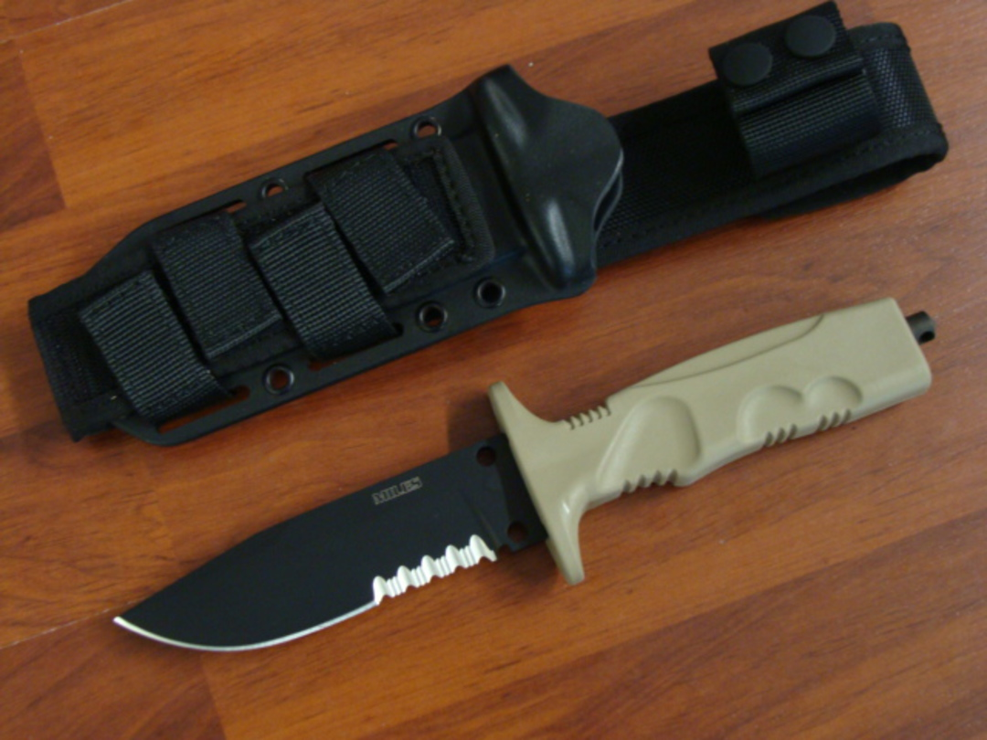 FOX Knives Miles Combat Trooper Knife Light Version W/Leg Strap FX0171103 image 0