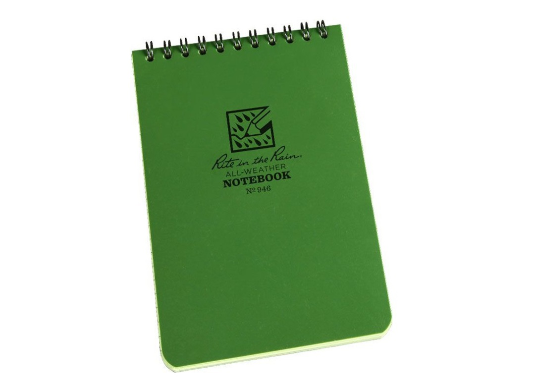 "Rite in the Rain Universal Polydura Tactical Pocket Notebook, 4"" x 6"", Green image 0"