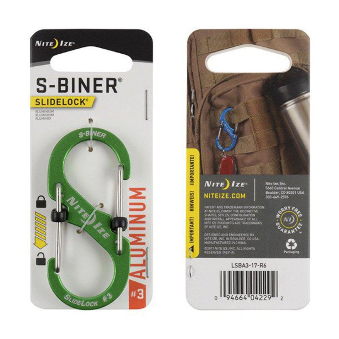 Nite Ize S-Biner Slidelock #3 Lime image 0