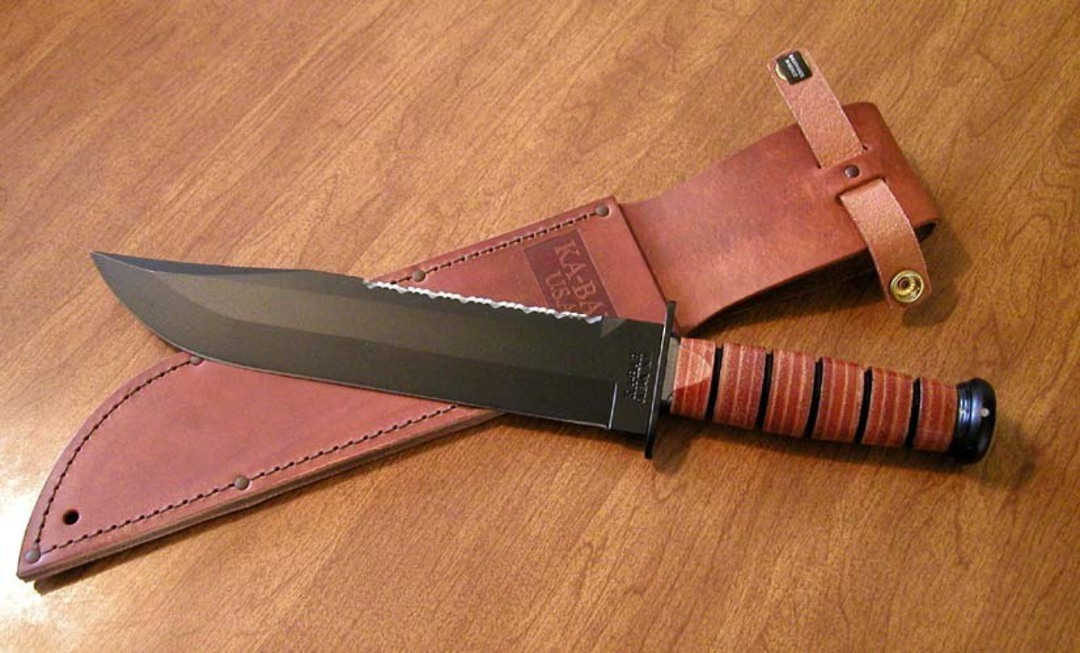KA-BAR Big Brother Utility Knife w/ Leather Sheath image 0