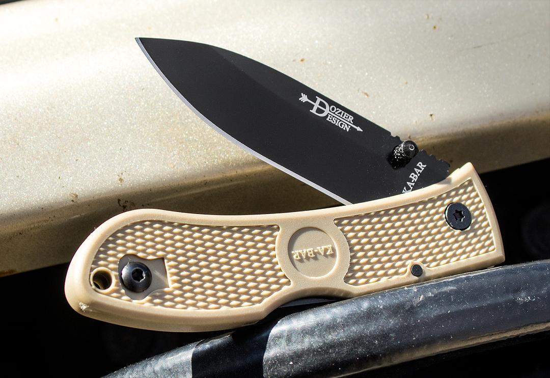 Ka-Bar Dozier Folding Hunter Folding Knife Coyote Brown image 0