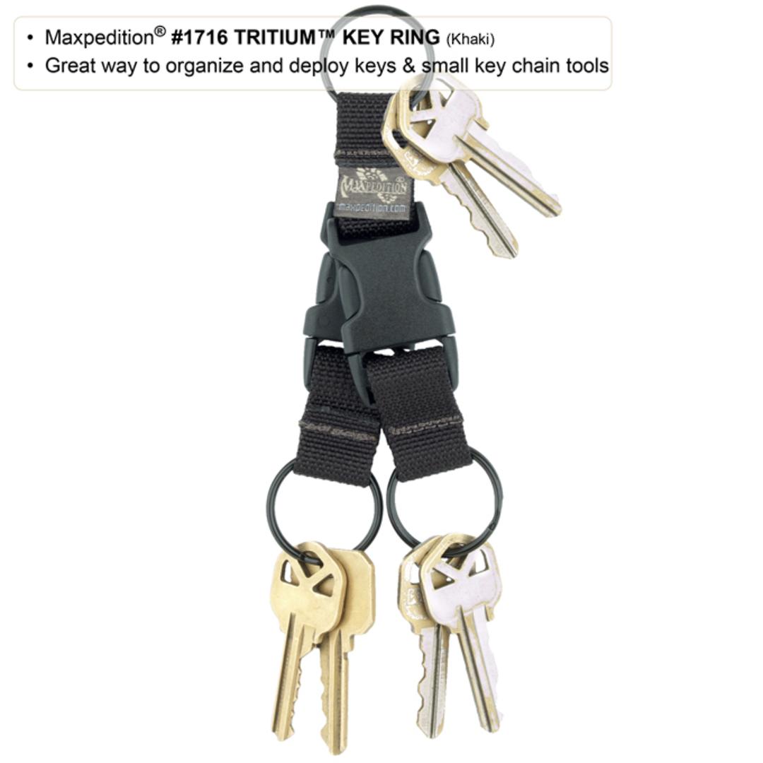 Maxpedition TRITIUM™ KEY RING - Black image 6