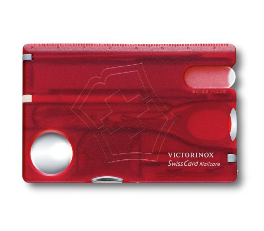 Victorinox Swisscard Nailcare - Red Transparent image 0