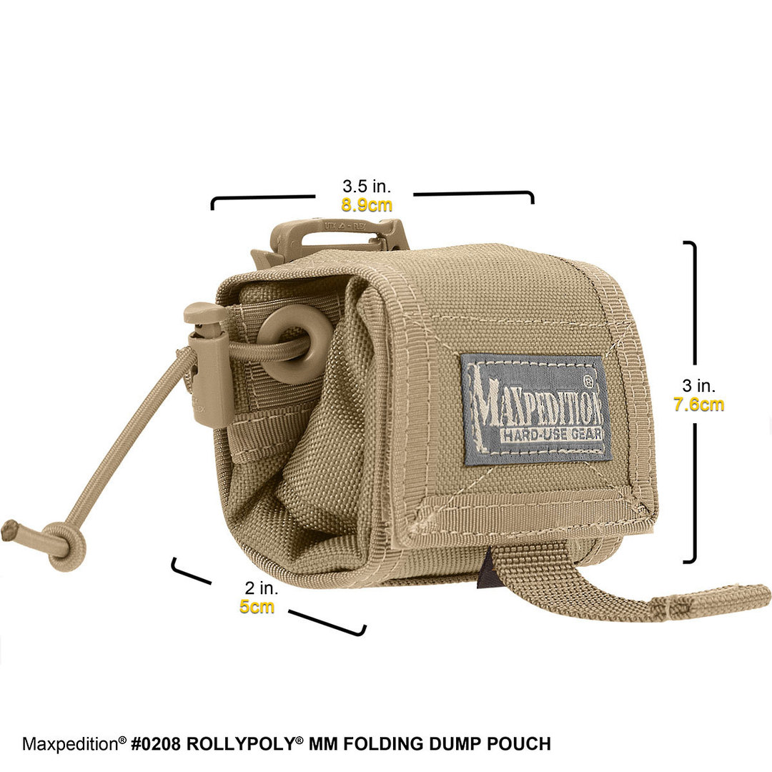 Maxpedition Rollypoly® MM Folding Dump Pouch - Khaki image 0