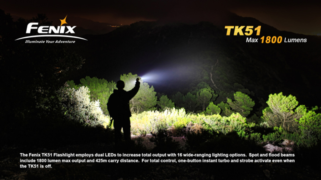 Fenix TK51 1800 Lumens Rechargable Torch image 2
