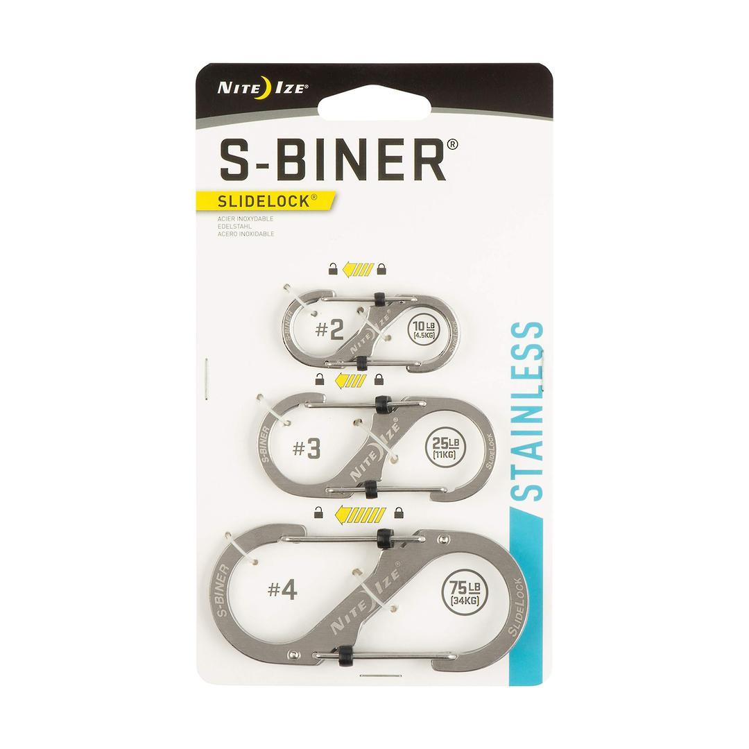 Nite Ize S-Biners Stainless Steel SlideLock- 3 Pack image 0