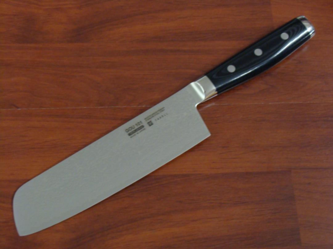 GOU Damascus Japanese Nakiri Knife 180mm - 101 Layers image 0