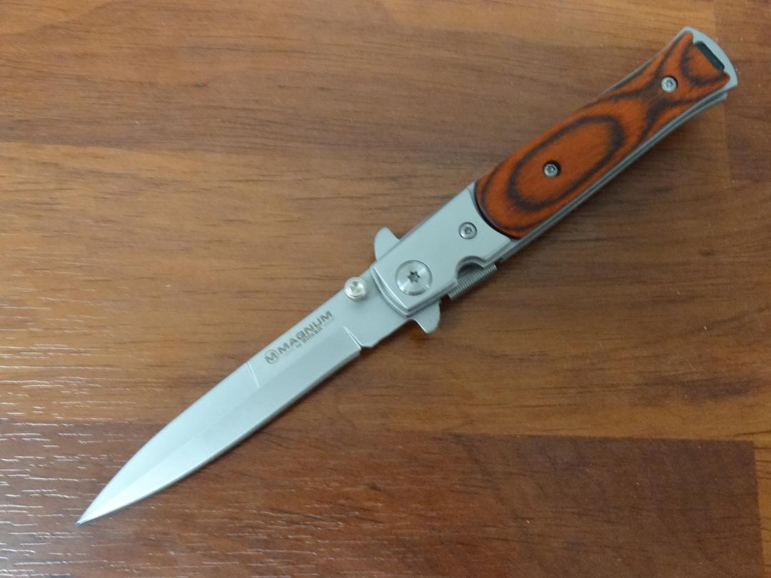 Boker Magnum Stiletto Liner Lock Folding Knife - 01YA101 image 0