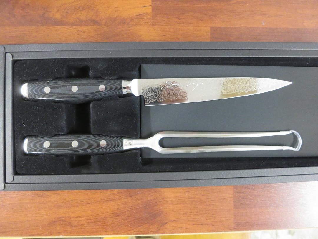 GOU Damascus Japanese Carving Knife Set- 101 Layers image 0
