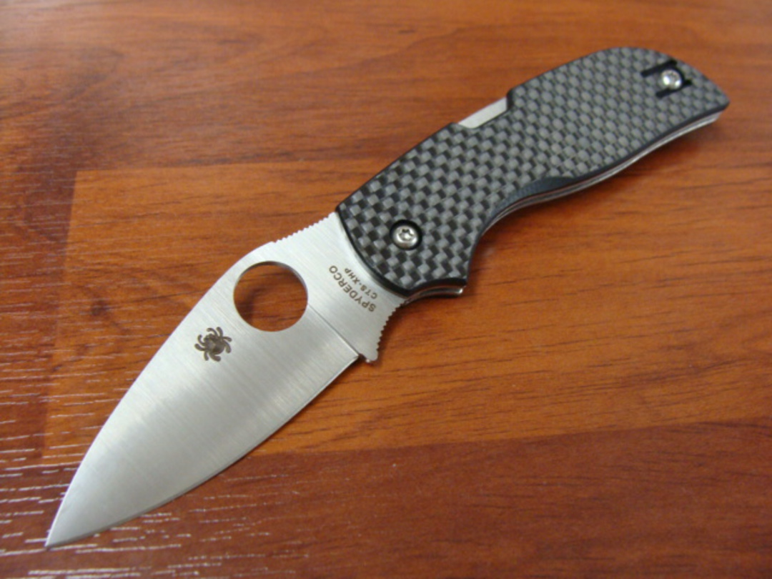 Spyderco Chaparral Folding Knife, Carbon Fiber Handles image 0