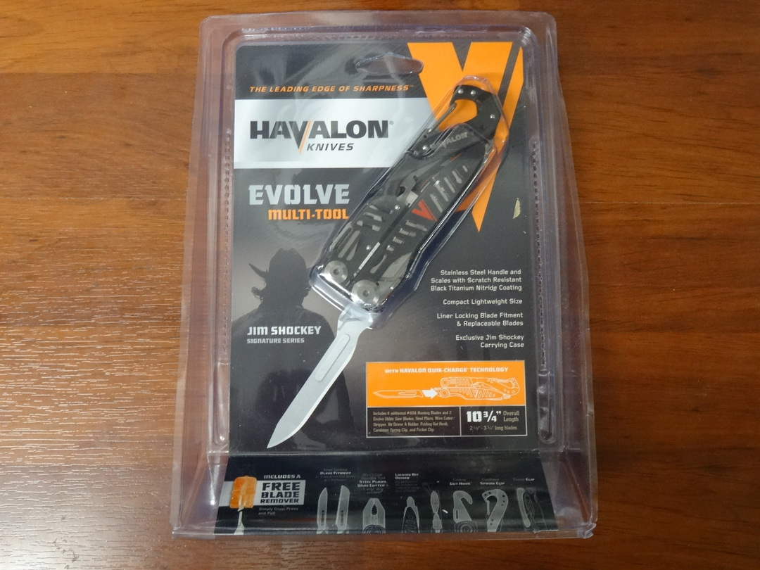 Havalon Evolve Jim Shockey Edition Replaceable Blade Multi-Tool, Nylon Pouch image 1