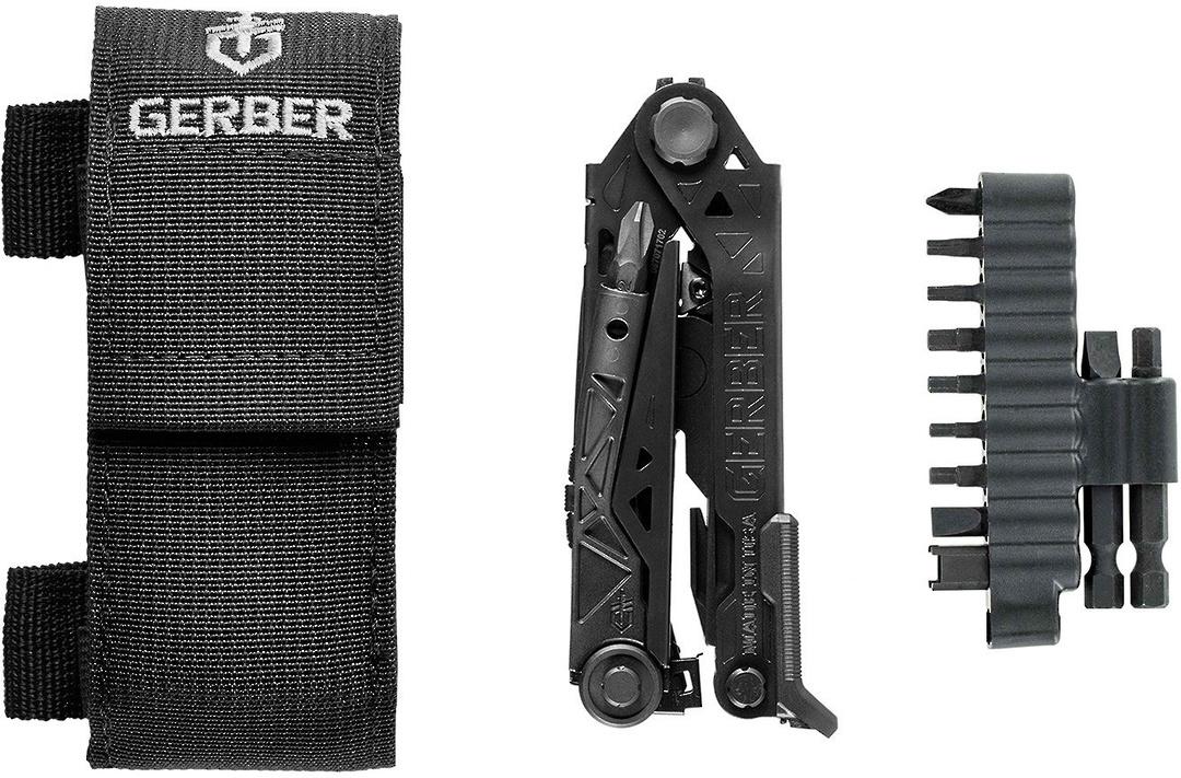 Gerber Center-Drive Black Multi-Tool with M4 Bit Set, Black Berry-Compliant Sheath image 0