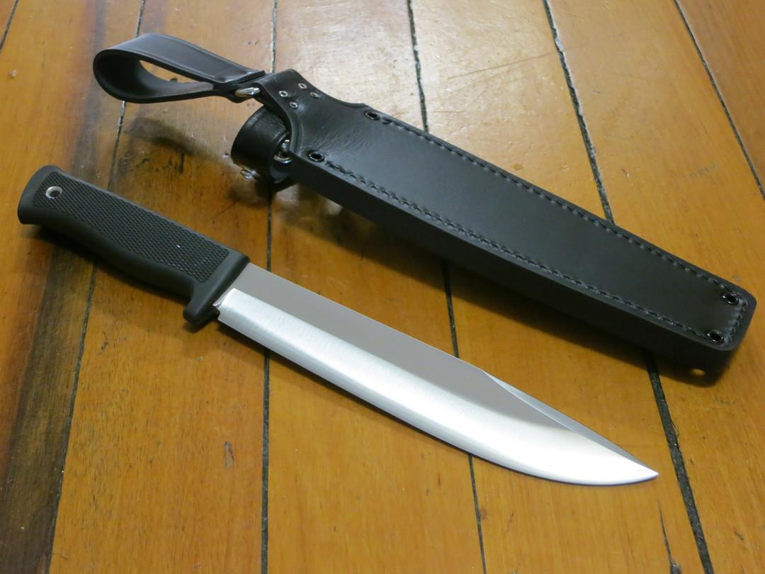 "Fallkniven A2 Wilderness Knife 8"" Satin VG10 Blade, Leather Sheath image 1"