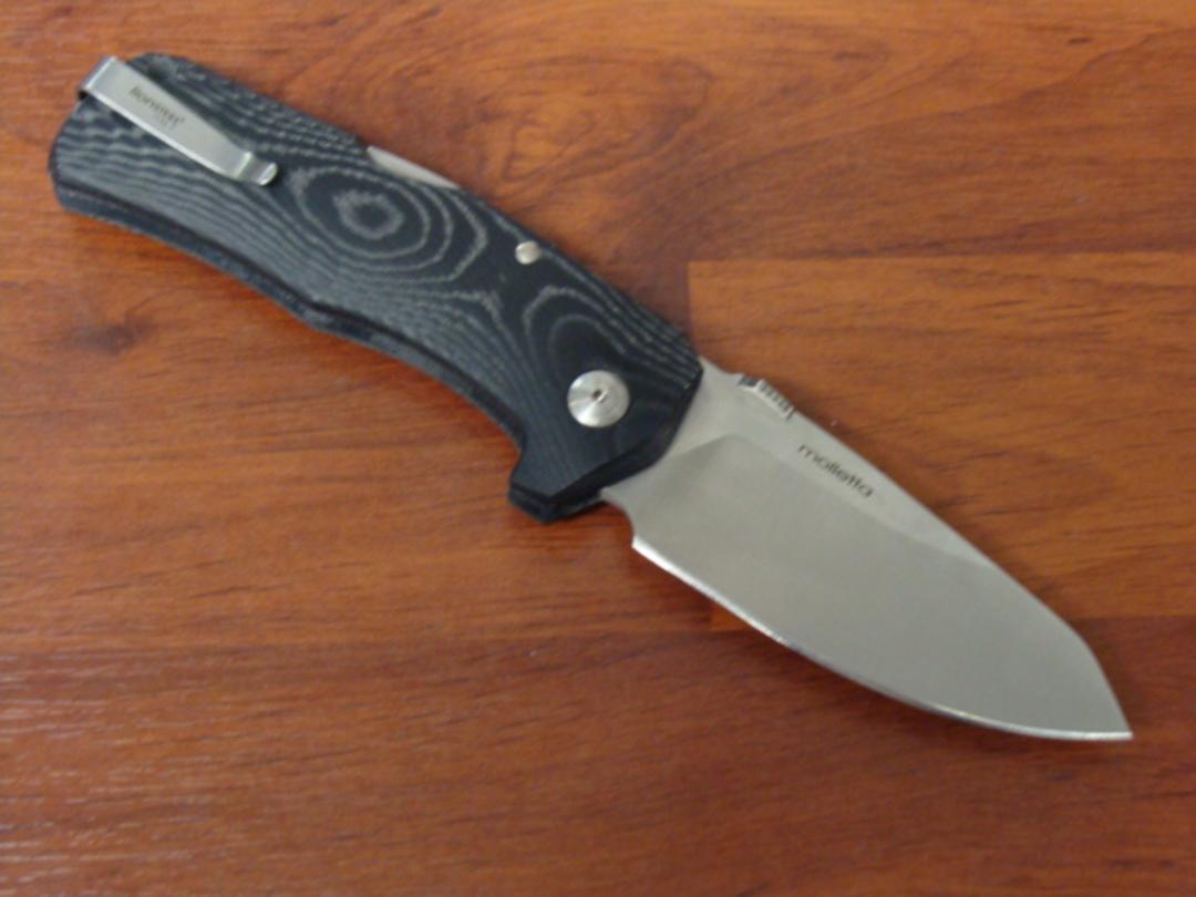 LionSteel TM1 MS Folding Sleipner Steel Blade Micarta Handle image 1