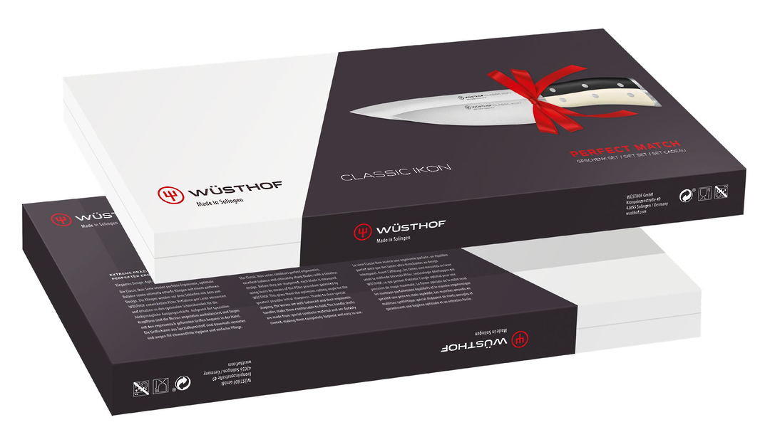 Wusthof Classic Ikon Perfect Match Cooks 2 Pc Knife Gift Box Set - 9606-2 image 1
