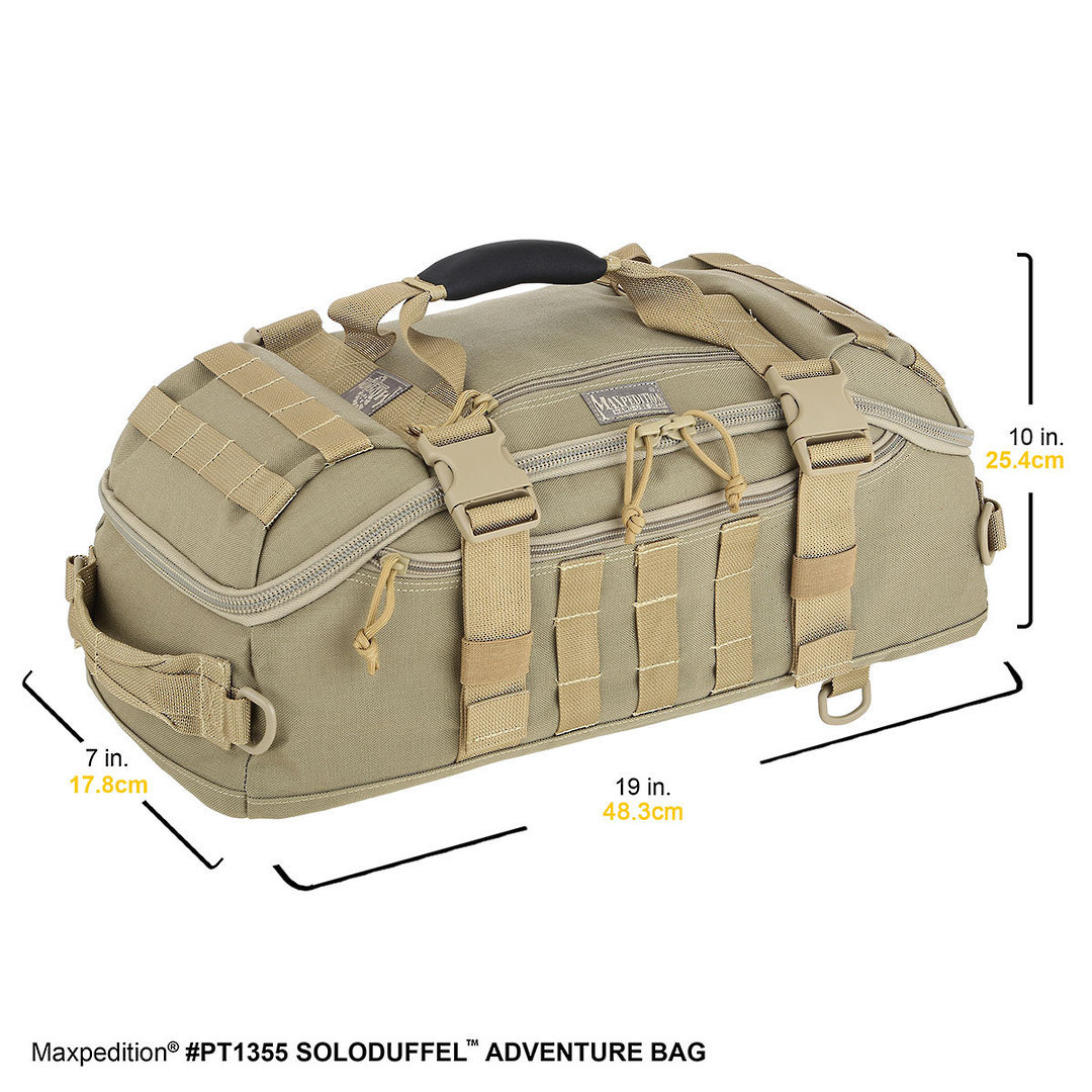 Maxpedition Soloduffe™ Adventure Bag - Khaki PT1355K image 1