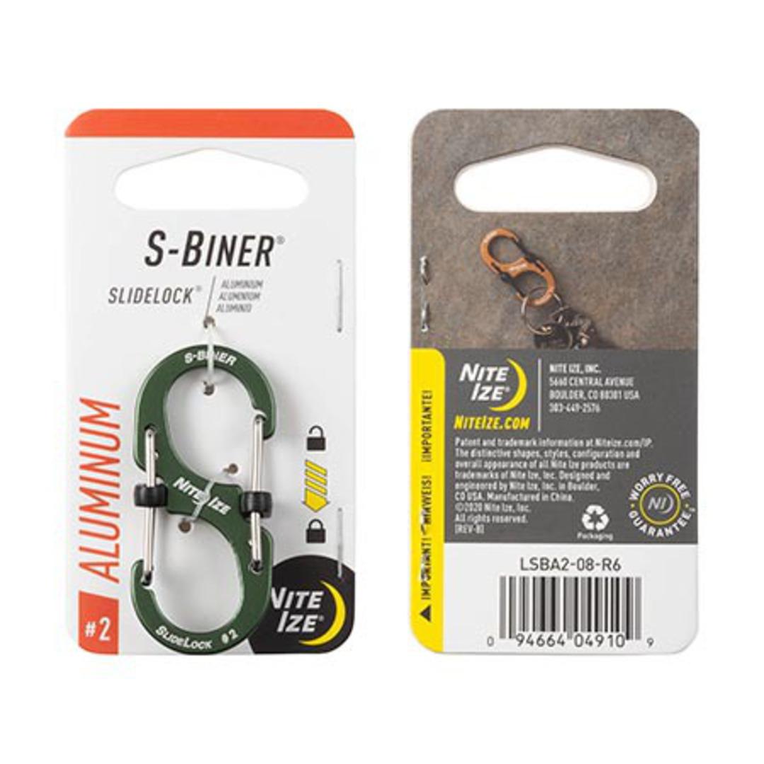 Nite Ize S-Biner Slidelock #2 Olive image 0