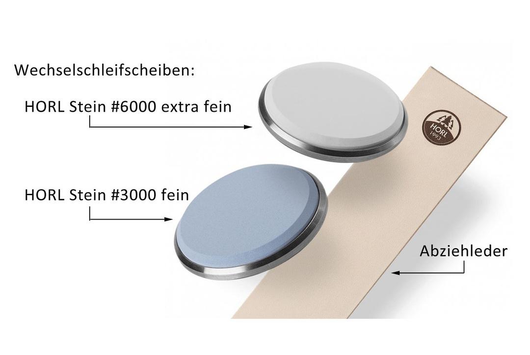 HORL Premium Sharpness Set (SET), Interchangeable grinding wheel , leather 904006 image 0