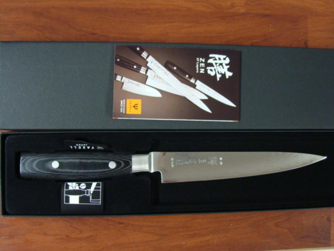 Zen Damascus VG-10 Japanese Slicing Knife 180mm - 37 Layers image 3