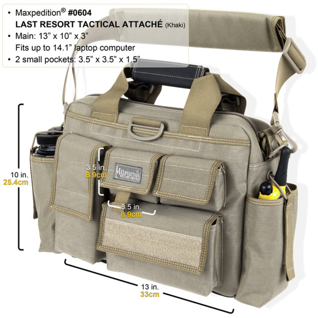 Maxpedition Last Resort Tactical Attache (Small) - Green image 1