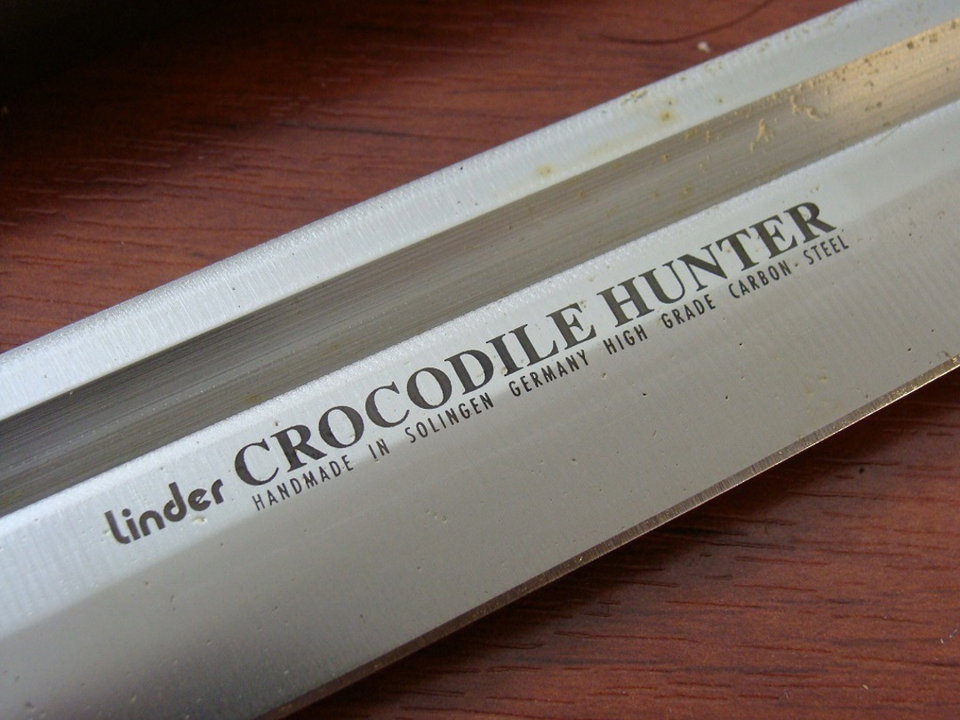 "Linder 15 1/4"" Crocodile Hunter Cocobolo Fixed Knife image 1"