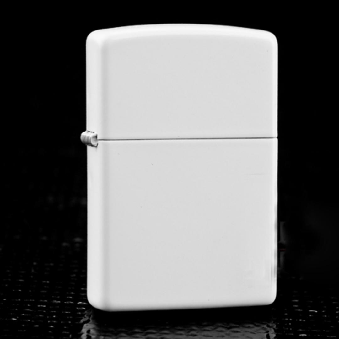 2 x Zippo White Matte Lighter image 0