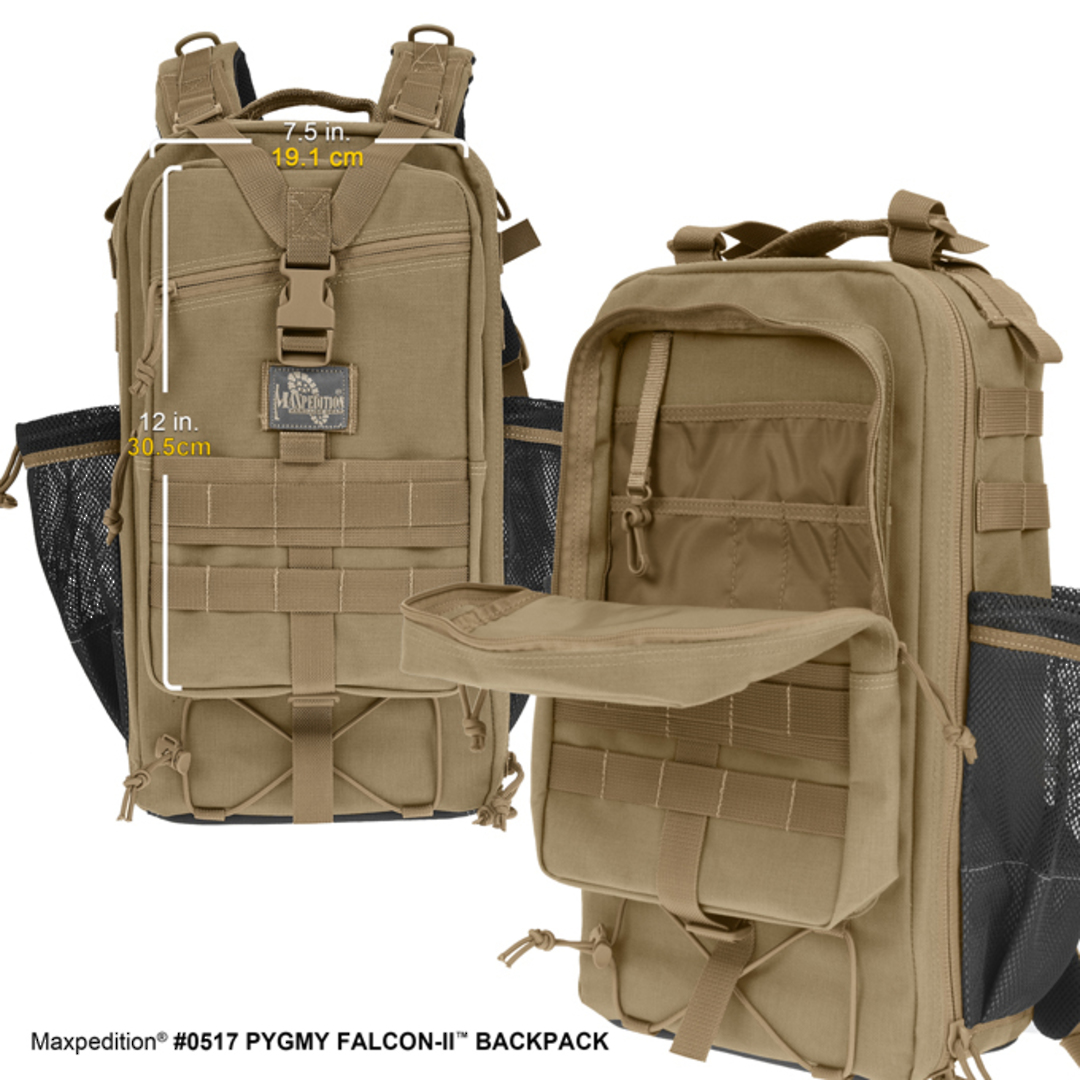 Maxpedition Pgymy Falcon II Backpack - Black image 2