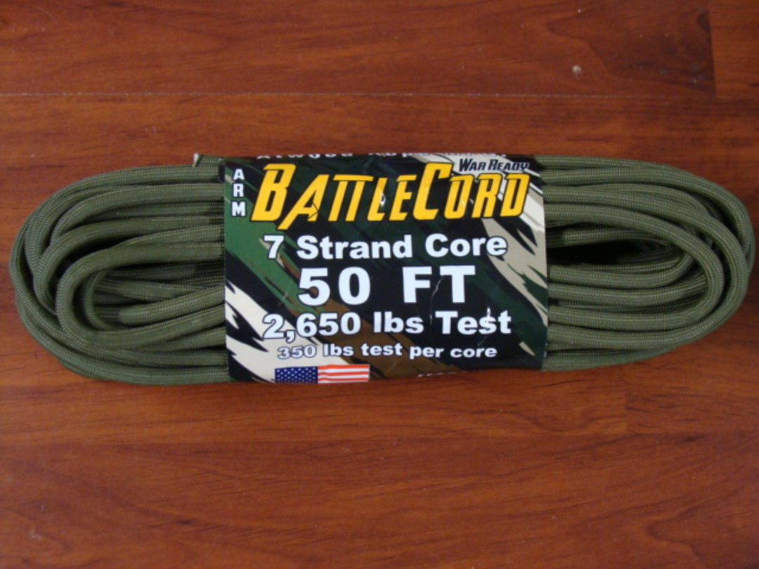ARM BattleCord/ Battle cord 2,650 lbs Tested - OD Green image 0
