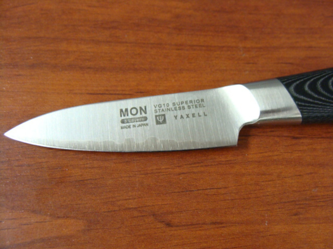 Mon Japanese Damascus VG-10 Paring Knife 80mm - 3 Layers image 1