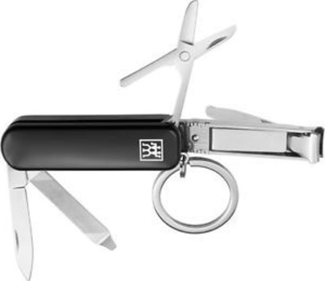 Zwilling J.A Henckels Multi tool, black, stainless steel with nail clippers image 0
