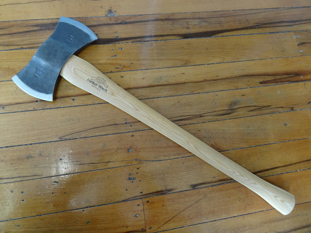 HELKO Traditional Line American Double Bit Felling axe With Sheath 13575 image 0