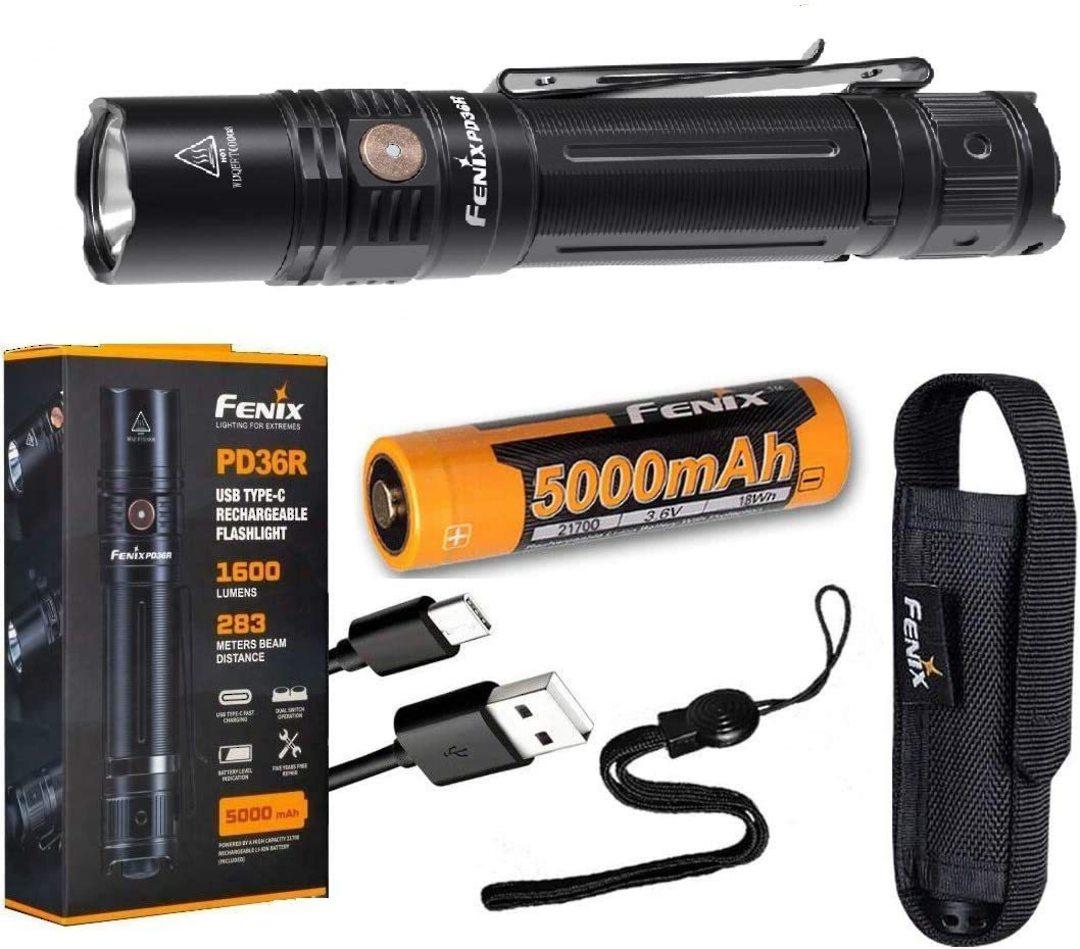 Fenix PD36R +E01 v2.0 Rechargeable Flashlight - 1600 Lumens image 2