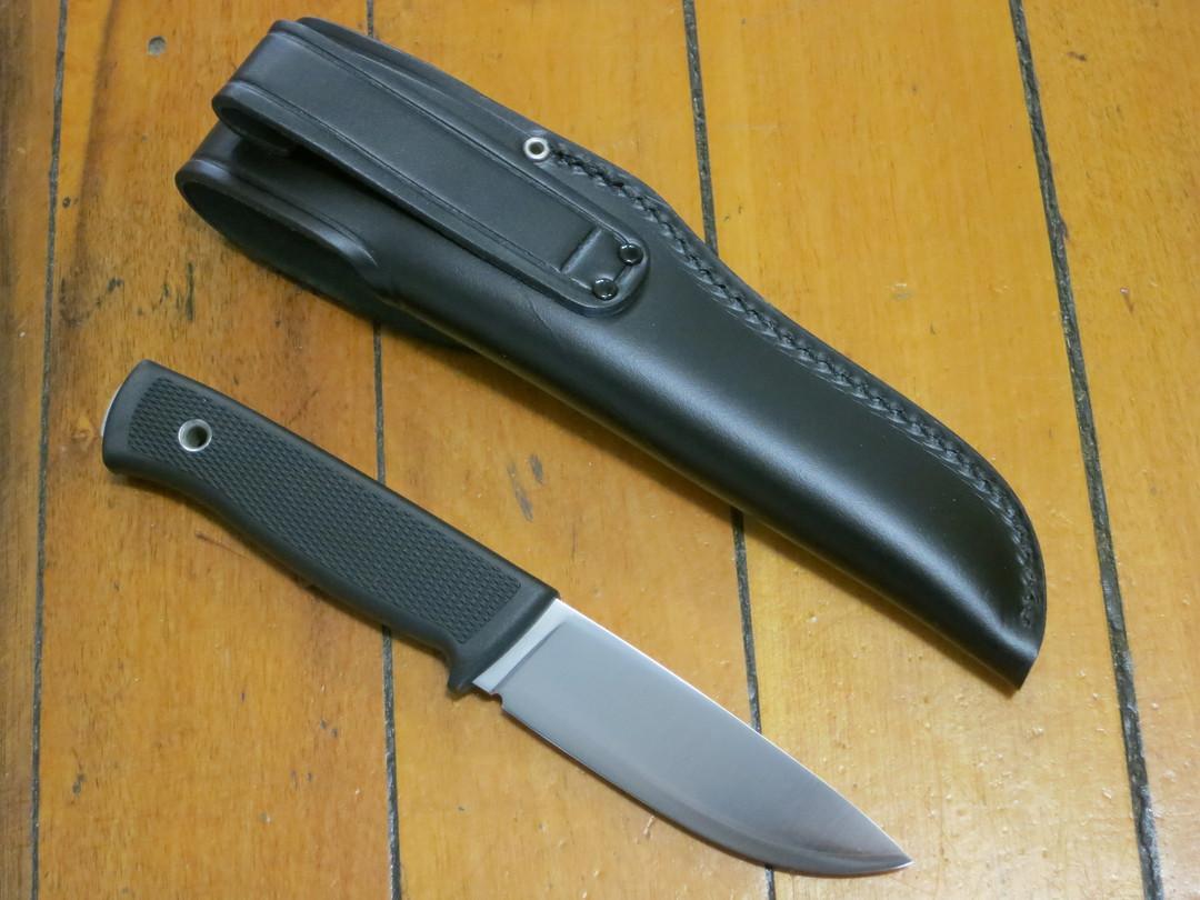 Fallkniven F1 Swedish Pilot Survival Knife,  Lam CoS Blade, Thermorun Handle and Leather Sheath - image 1