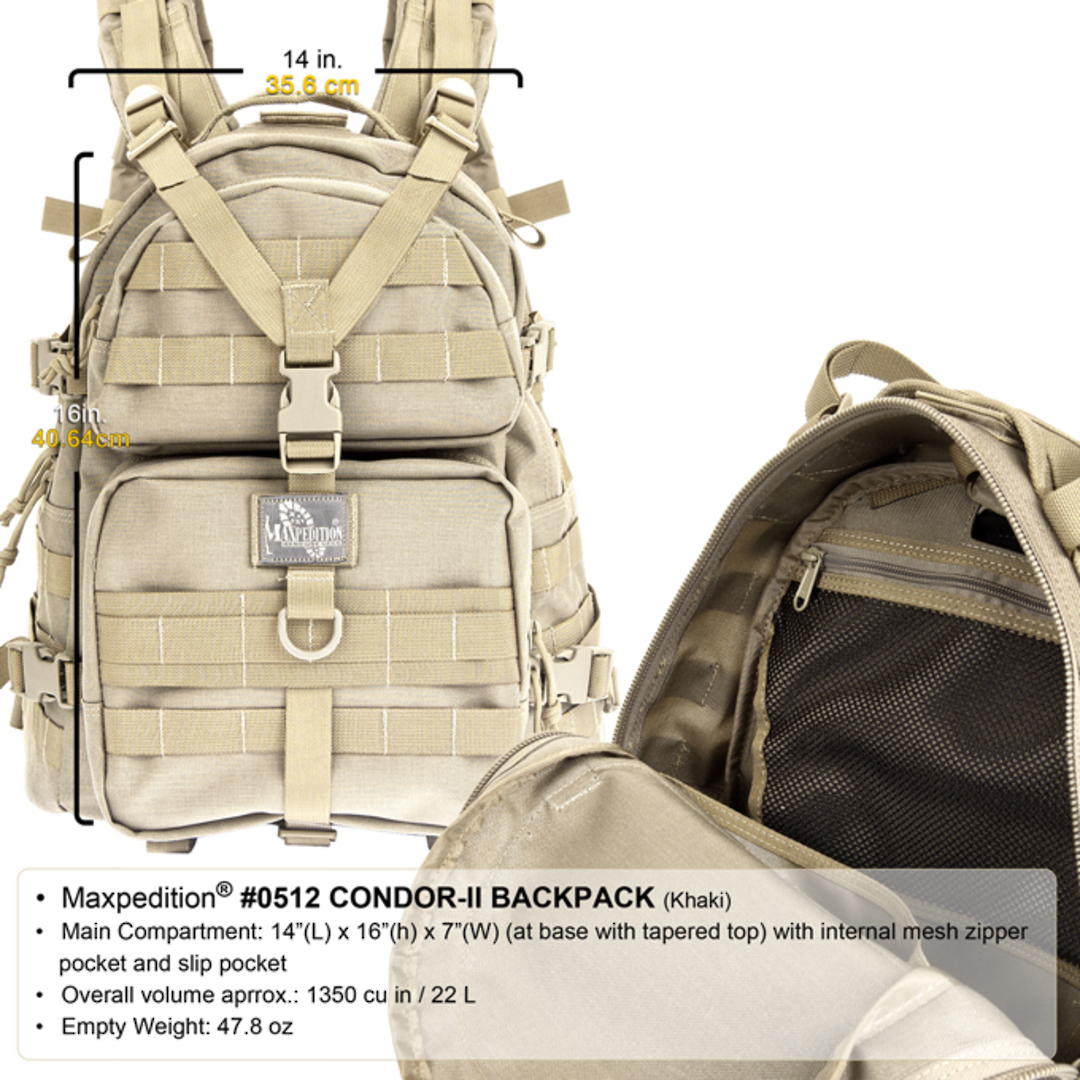 Maxpedition Condor II Backpack - Black image 1