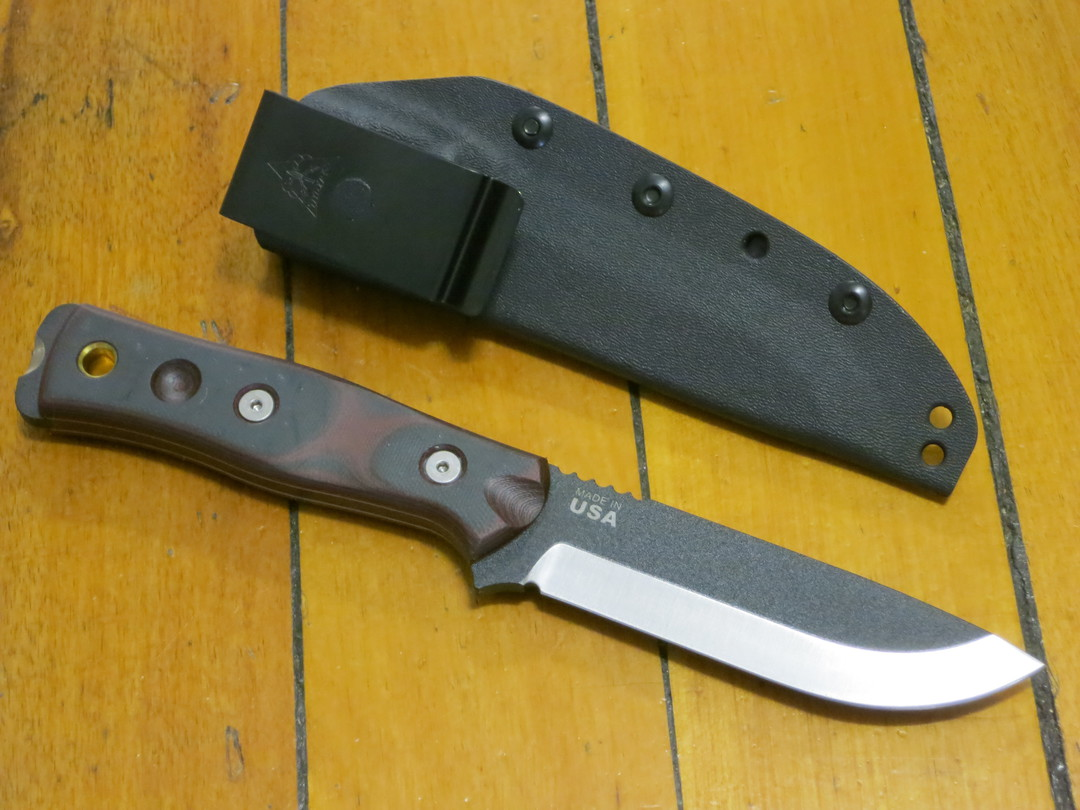 Tops BOB Hunter - Brothers of Bushcraft Knife - Red and Black G10 handles image 1