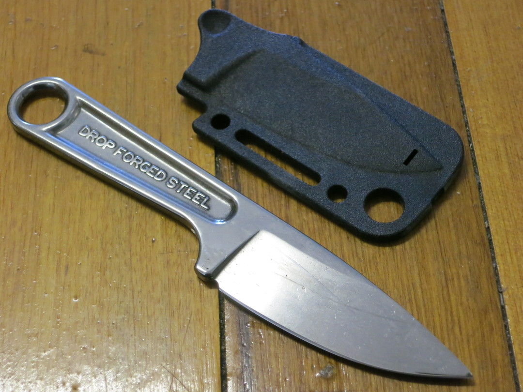 KA-BAR Wrench Neck Knife, One-Piece Construction, Hard Plastic Sheath image 1